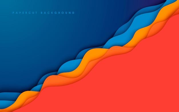 Fondo abstracto colorido papercut