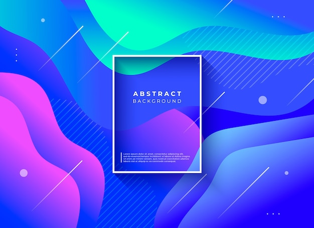 Fondo abstracto con composición de formas fluidas