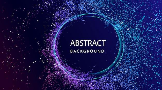 Fondo abstracto con composición de partículas