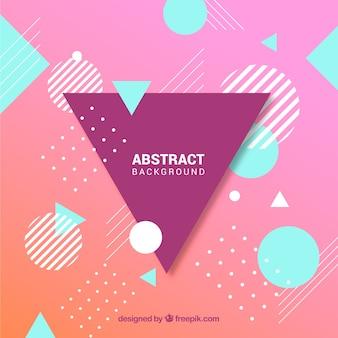 Fondo abstracto con estilo geométrico