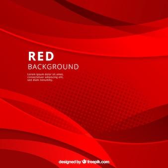 Fondo abstracto con figuras rojas