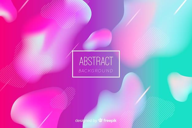 Fondo abstracto con formas planas