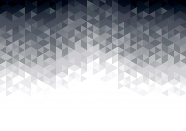 Fondo abstracto con triángulos brillantes grises