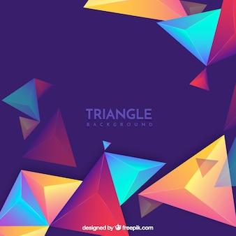 Fondo abstracto con triángulos en 3d