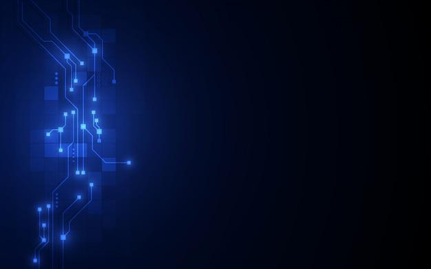 Fondo abstracto del concepto de blockchain de redes de circuito