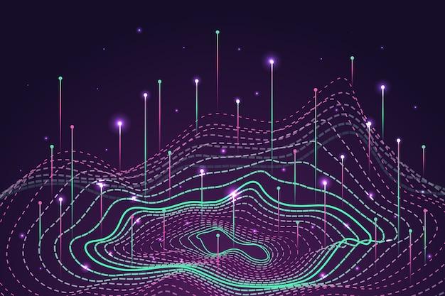 Fondo abstracto del concepto de datos grandes