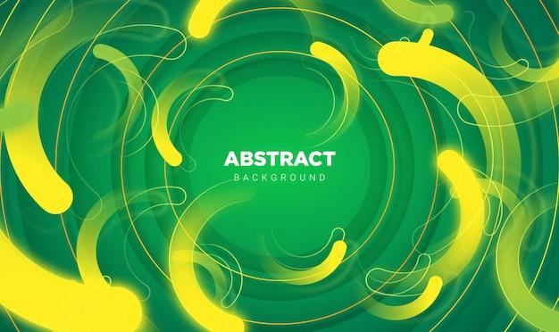 Fondo abstracto con concepto moderno en plantillas de vector de color verde fresco