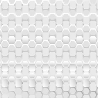 Fondo abstracto de conexión con patrón hexagonal blanco y gris