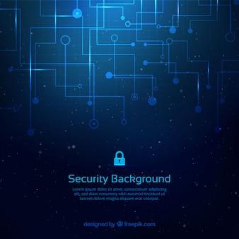 Fondo abstracto con conexiones de seguridad