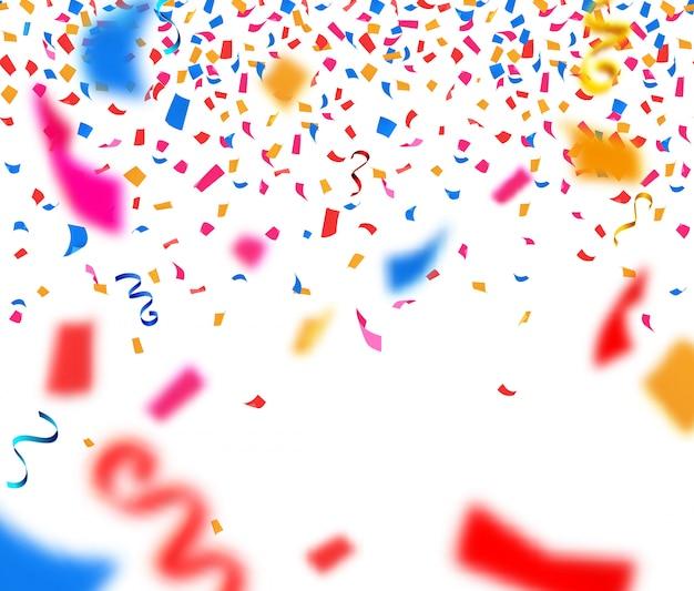Fondo abstracto con confeti de papel colorido