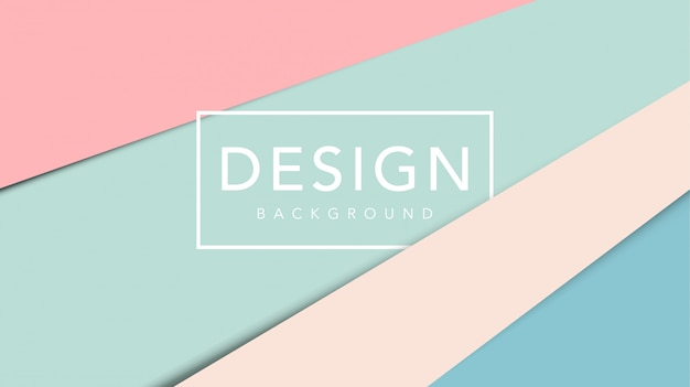Fondo abstracto de corte de papel con plantilla de color pastel