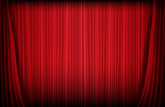 Fondo abstracto de cortina roja