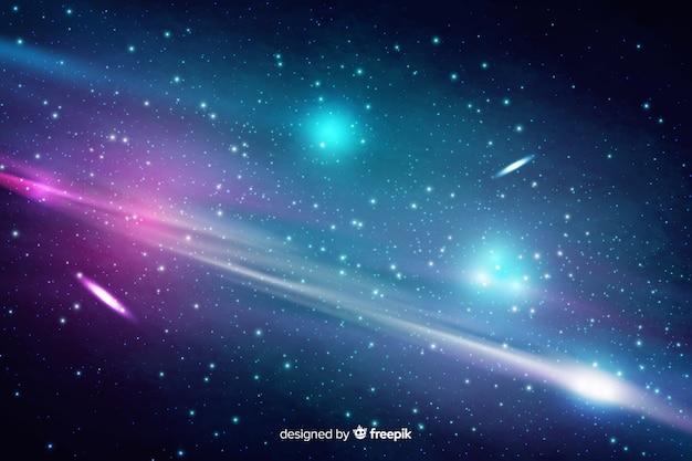 Fondo abstracto cósmico con estrellas