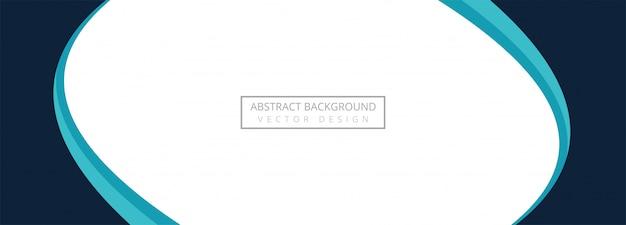 Fondo abstracto creativo ola azul banner