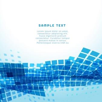 Fondo abstracto con cuadrados azules