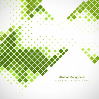 Fondo abstracto con cuadrados verdes