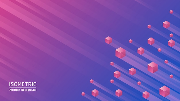 Fondo abstracto. cubos isométricos sobre fondo abstracto