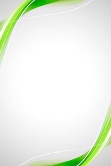 Fondo abstracto curva verde
