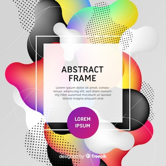 Fondo abstracto curvas coloridas