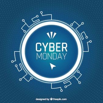 Fondo abstracto de cyber monday