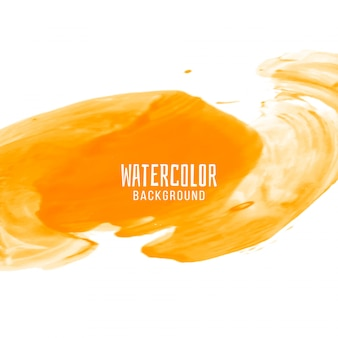 Fondo abstracto de diseño acuarela amarillo