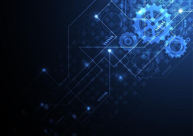 Fondo abstracto de la máquina con textura de placa de circuito de tecnología.