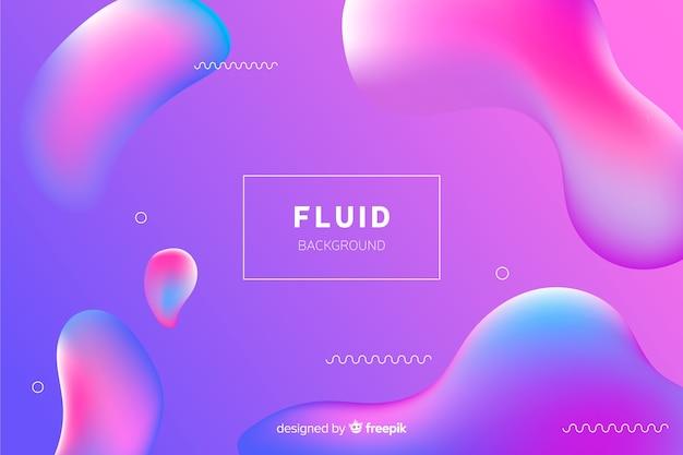 Fondo abstracto degradado con formas fluidas