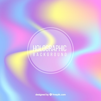 Fondo abstracto desenfocado holográfico