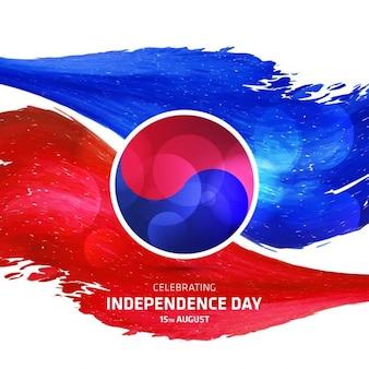 Fondo abstracto del día de la independencia de corea del sur