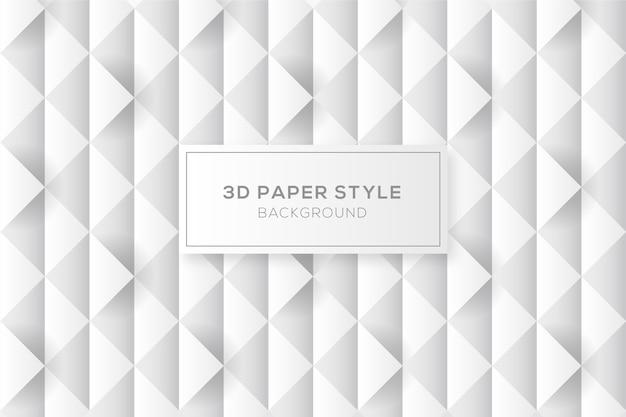 Fondo abstracto de diamantes en estilo de papel 3d