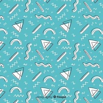 Fondo abstracto dibujado de formas geométricas
