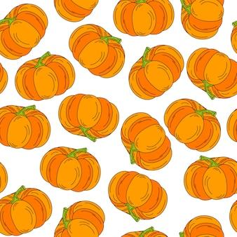 Fondo abstracto de dibujos animados lindo calabaza de halloween patrón