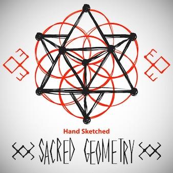 Fondo abstracto con dibujos de geometría sagrada