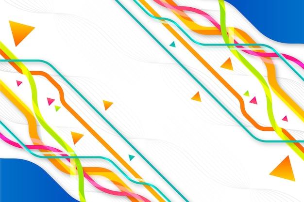 Fondo abstracto con diferentes formas geométricas