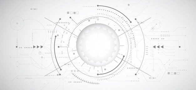 Fondo abstracto diseño 3d con tecnología