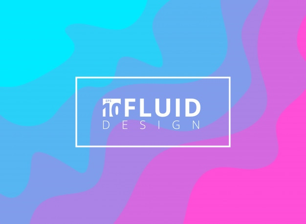 Fondo abstracto diseño azul y rosa fluido.