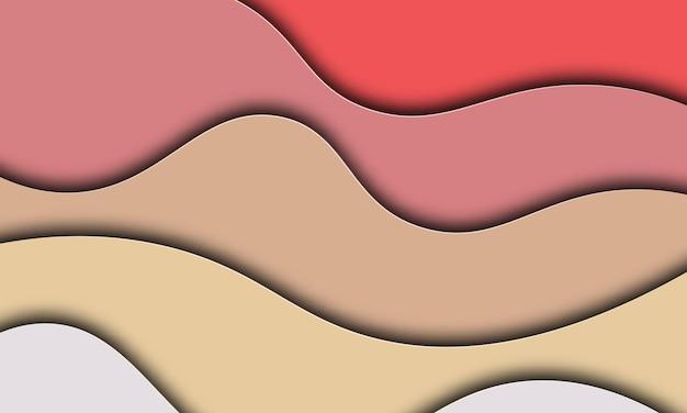 Fondo abstracto con diseño de banner de formas de corte de papel. ilustración vectorial.