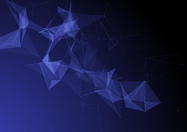 Fondo abstracto de diseño de conexiones de baja poli