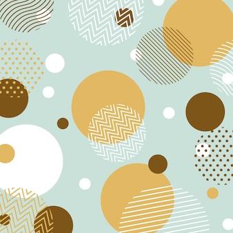 Fondo abstracto de diseño escandinavo círculo