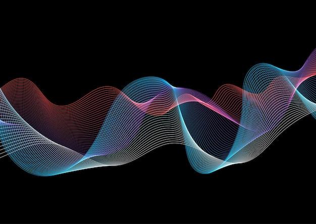 Fondo abstracto con un diseño de líneas fluidas