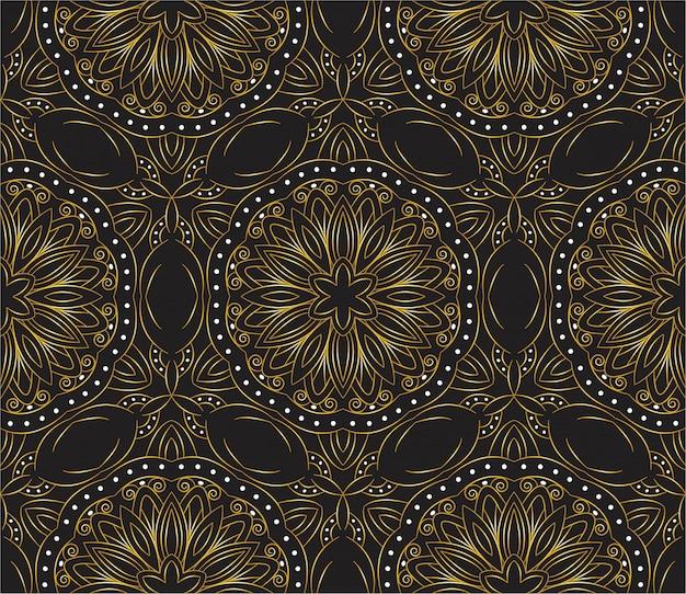 Fondo abstracto de diseño de mandala ornamental de lujo