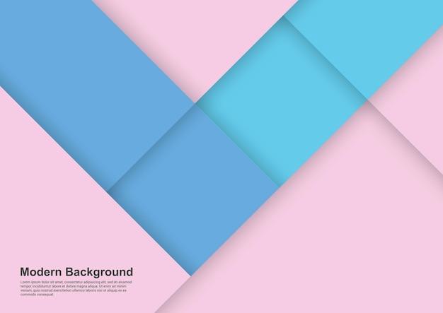 Fondo abstracto de diseño moderno de luz rosa y azul