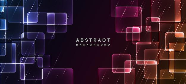 Fondo abstracto de diseño de neón brillante
