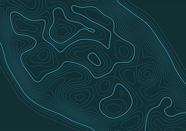 Fondo abstracto con un diseño de paisaje topográfico