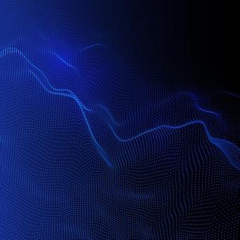 Fondo abstracto con un diseño de partículas que fluyen