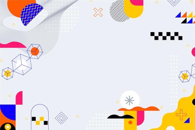 Fondo abstracto de diseño plano con formas coloridas