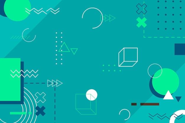 Fondo abstracto de diseño plano geométrico