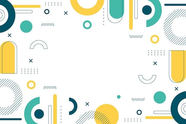 Fondo abstracto de diseño plano
