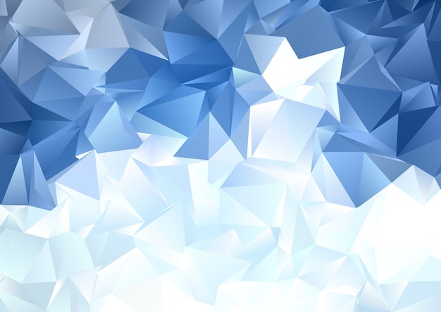 Fondo abstracto con un diseño de poli baja azul hielo