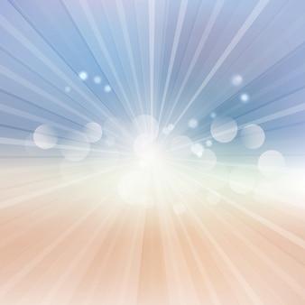 Fondo abstracto con un diseño de resplandor solar